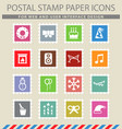 new year simply icons vector image vector image