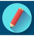 office pencil icon Business Flat design style vector image vector image