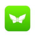 origami butterfly icon green vector image vector image