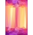 Pink and orange triangles abstract poster vector image