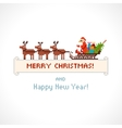 Pixel style Santa Claus in a sleigh vector image vector image
