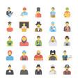 professions avatar flat icons set vector image