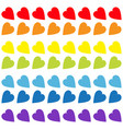 rainbow heart set seamless pattern wrapping paper vector image vector image