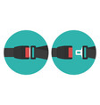 safety belt icon vector image vector image