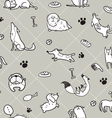 seamless Dogs pattern B vector image vector image