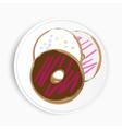 Serving of delicious doughnuts vector image vector image