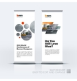 set of modern roll Up Banner stand design vector image vector image