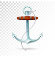 ships anchor and rope isolated on transparent vector image