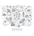Space Line Art vector image