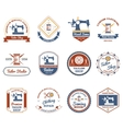 Tailor shop original labels icons set vector image vector image