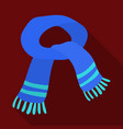 the blue scarfwinter warm wool scarf for the neck vector image