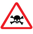 Toxic sign with skull vector image vector image