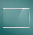 Transparent glass futuristic screen vector image vector image