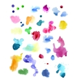 Watercolor splashes isolated on white background vector image vector image