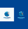 work space coworking abstract sign emblem vector image vector image