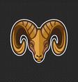 goat logo design template goat head icon vector image