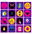 Erotic sex shop symbols Adult games and toys vector image