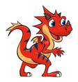Striped dragon vector image