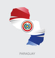 map of paraguay vector image