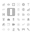 33 success icons vector image vector image