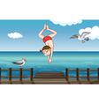 A jumping boy vector image vector image