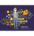 a portrait of analyst man in a jacket han vector image vector image