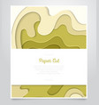 abstract green layout - paper cut banner vector image vector image