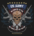 america us army skull usa american soldier with w vector image vector image