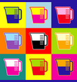 beaker sign pop-art style colorful icons vector image