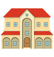 big house with many windows vector image