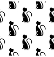 black cat seamless vector image