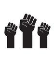 Black flat three fist