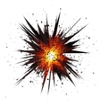 Black isolated star explosion with particles vector image vector image