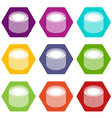 building roll net icons set 9 vector image