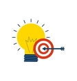 bulb light with business icon vector image vector image