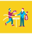 Business ideas banner Exchange ideas to money vector image vector image