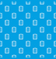 check list pattern seamless blue vector image vector image