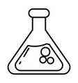 chemistry beaker glass cartoon vector image