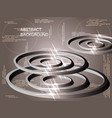 circles metal sparkle on background vector image