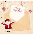 Congratulation gold retro background with Santa vector image