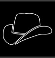 cowboy hat it is icon vector image vector image