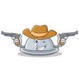 cowboy tray character cartoon style vector image vector image
