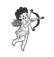 cupid with bow sketch