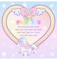 cute pastel magical lovely heart ribbon and vector image vector image