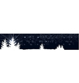 dark blue banner with Christmas trees vector image vector image