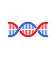 dna icon modern simple flat dna sign isolated vector image vector image