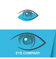 eye vision logo template vector image