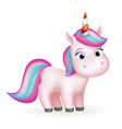 fairytail magic animal cute unicorn cartoon vector image