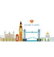 Flat design of London city Modern building vector image vector image