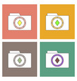 flat icon design collection casino chip on folder vector image vector image